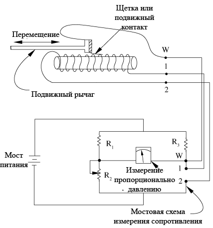 пример пьезоэлектрического датчика давления